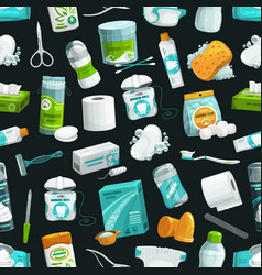 Hygiene and healthcare seamless pattern background vector