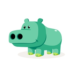 Icon hippo vector