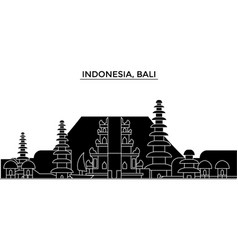 Indonesia bali architecture city skyline vector