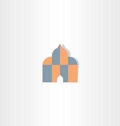 Islam house god icon vector
