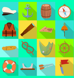 isolated object journey and seafaring logo vector image
