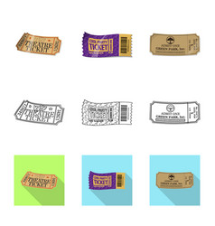 Isolated object of ticket and admission logo vector