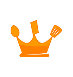 kitchen king logo design template vector image