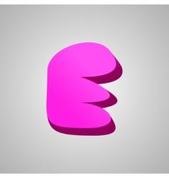 Letter E comic style font EPS10 vector