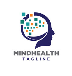 Mind health logo designs concept and nature vector