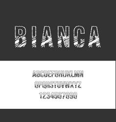 modern alphabet font abstract vector image