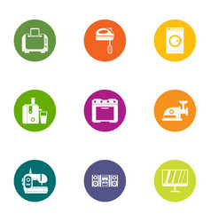 Modern apartment icons set flat style vector
