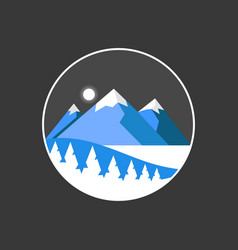 mountain isolated travel vector image