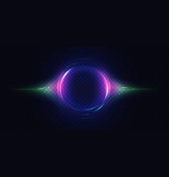 Neon luminous circle light effect glow of vector