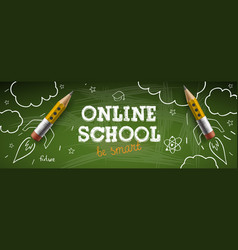 online school digital internet tutorials and vector image