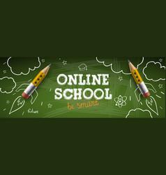 online school digital internet tutorials vector image