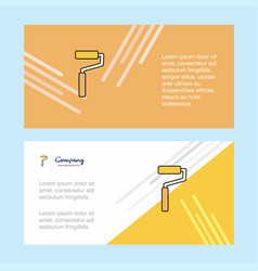 paint roller abstract corporate business banner vector image