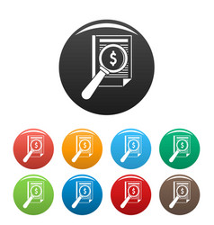 payment paper icons set color vector image