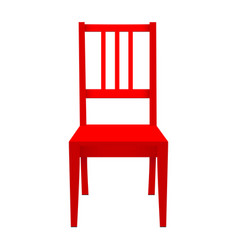 Red stool isolated on white background vector