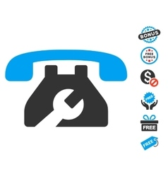 Repair Service Phone Icon With Free Bonus vector