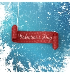 Scroll Valentines Day Ribbon on Snow and Ice vector