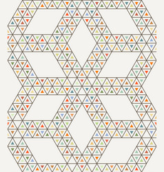 seamless geometric triangle pattern vector image