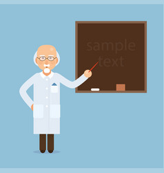 senior science teacher scientist professor vector image