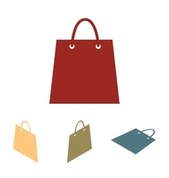 Shopping bag - set Isometric vector image