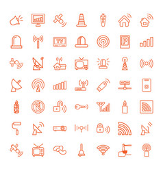 signal icons vector image