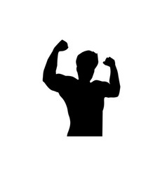 strong man silhouette vector image
