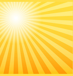 sunray background with the light source offset vector image
