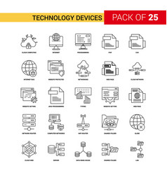 technology device black line icon - 25 business vector image