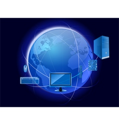 technology world vector image