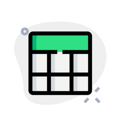 Top bar with bottom frame grid template layout vector