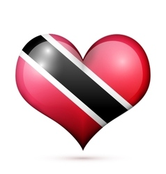 Trinidad and Tobago Heart flag icon vector image