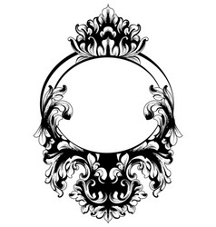 Vintage baroque mirror frame french luxury vector