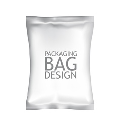 White Blank Foil Food Snack Sachet Bag Packaging vector image