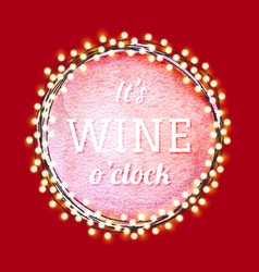 wine quote label vector image