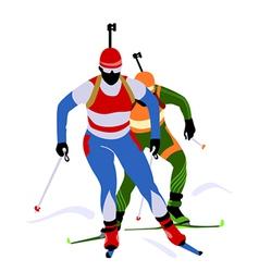 biathlon race vector image vector image
