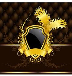 luxury vintage banner vector image