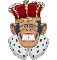 Monkey in a crown vector