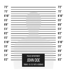 police mugshot police lineup isolated on vector image