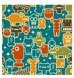 robot pattern vector image vector image