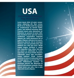 USA flag stars and Text Abstract Background vector image