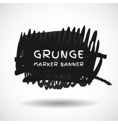 Black markers strokes banner vector image vector image