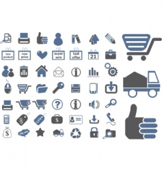 ecommerce signs vector image vector image