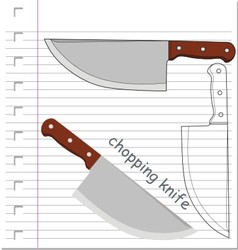 knife with on paper vector image vector image