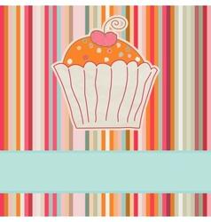 Retro cupcake car vector image vector image