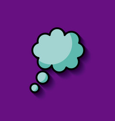 Thought cloud or bubble image vector