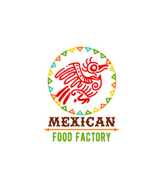 icon for mexican food cuisine vector image vector image