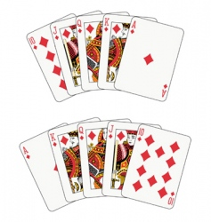 royal flush diamond vector image vector image