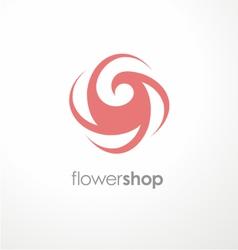 Unique flower logo design template for flower shop vector image vector image