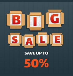 big sale banner design vector image vector image