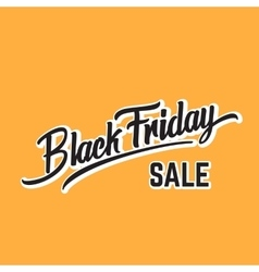 Black Friday Expressive Hand Lettering vector image vector image