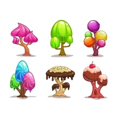 Cartoon sweet candy tree vector
